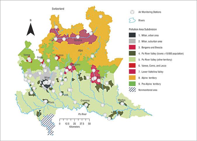 Cartina Inquinamento Lombardia.Sefap